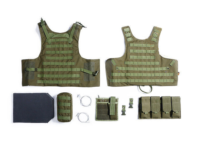 Military Tactical Vest With Two Pistol Pouch , Tactical Vest Carrier For Law Enforcement